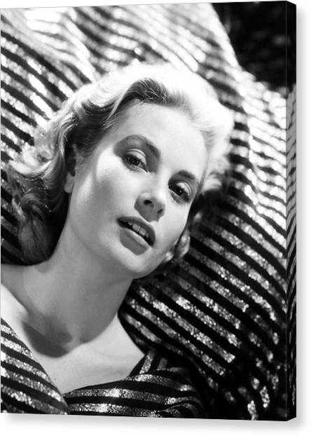 Grace Kelly Canvas Print - Grace Kelly by Silver Screen