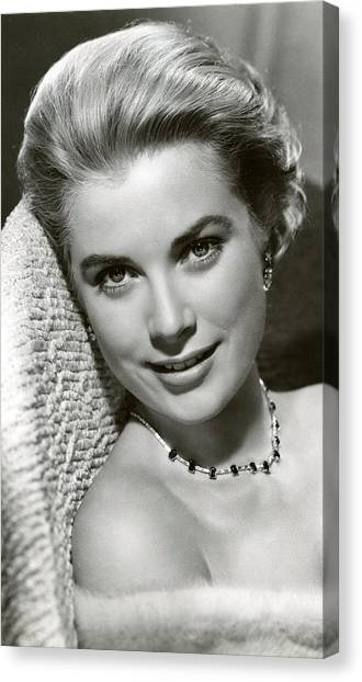 Grace Kelly Canvas Print - Grace Kelly Smiles by Retro Images Archive