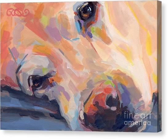 Yellow Lab Canvas Print - Grace by Kimberly Santini