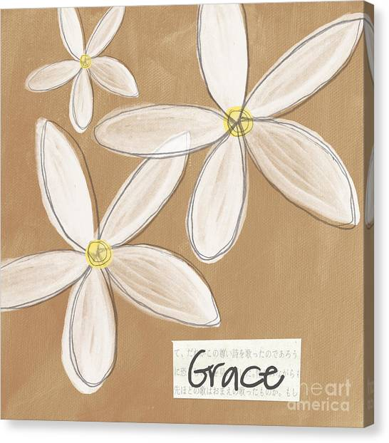 Religious Canvas Print - Grace by Linda Woods
