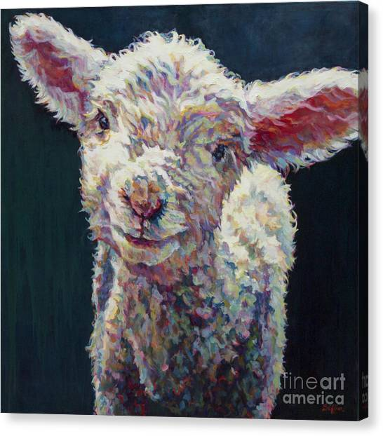 Sheep Canvas Print - Grace by Patricia A Griffin