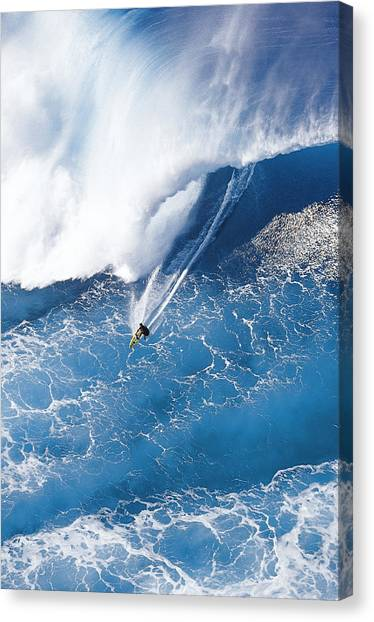 Surfing Canvas Print - Grace Under Pressure by Sean Davey
