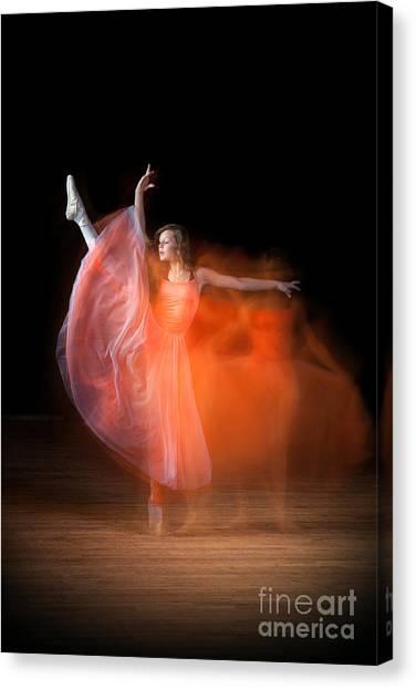 Graceful Ballerina Spirit Dance Canvas Print