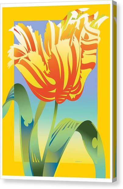 Gradient Parrot Canvas Print