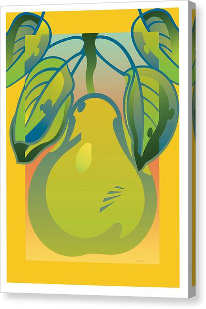 Gradient Pear Canvas Print