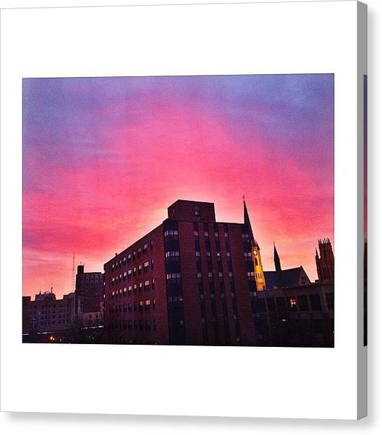 Big East Canvas Print - Gradient Skies by Ariana Moshref