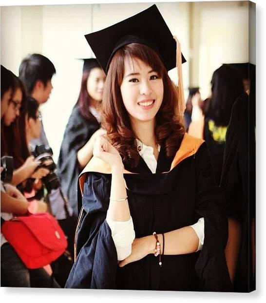 Bachelor Canvas Print - Graduated Woohooo 😂✌ #cool by Tran Ha