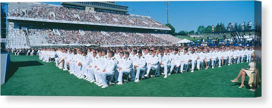Colleges And Universities Canvas Print - Graduation At Naval Academy, Annapolis by Panoramic Images