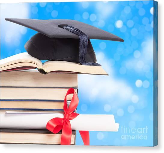 Graduate Degree Canvas Print - Graduation  by Amanda Elwell