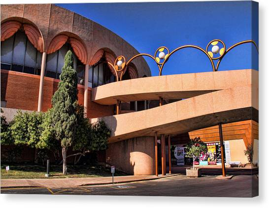 Wright State University Canvas Print - Grady Gammage Auditorium by Chuck Seller
