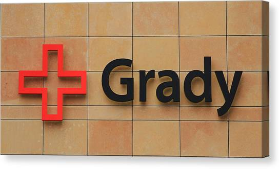 Grady Hospital Atlanta Georgia Art Canvas Print