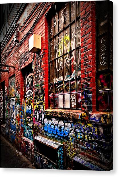 Graffiti Alley Canvas Print