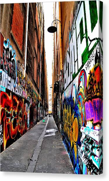 Graffiti Alley - Melbourne - Australia Canvas Print