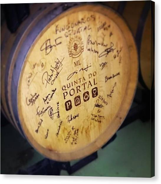 Wine Barrels Canvas Print - #graffiti Allowed At This #winery by Qin Xie