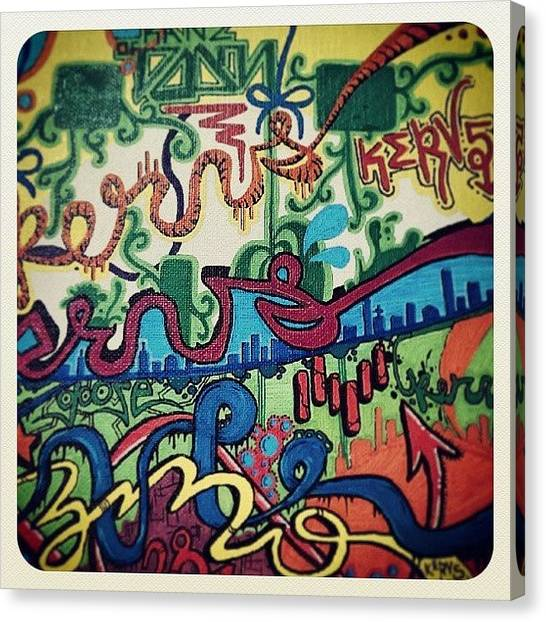 Art Deco Canvas Print - #graffiti #art #canvas #graff #deco by Jake Tucker