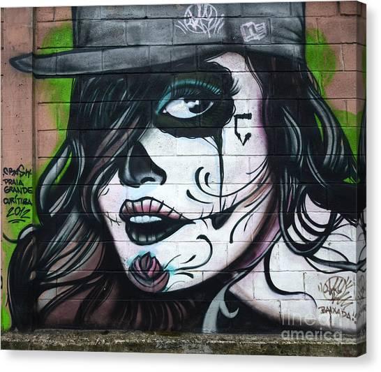 Graffiti Walls Canvas Print - Graffiti Art Curitiba Brazil 21 by Bob Christopher