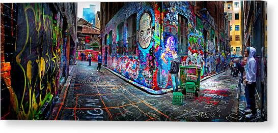 Degrees Canvas Print - Graffiti Artist by Az Jackson