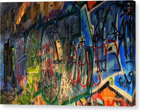 Graffiti Blues Canvas Print