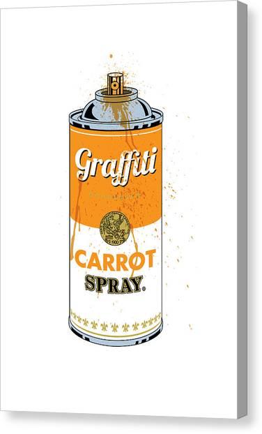 Carrots Canvas Print - Graffiti Carrot Spray Can by Gary Grayson