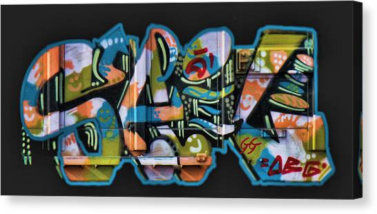 Dean Russo Canvas Print - Graffiti - Happy/sad by Graffiti Girl