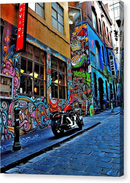 Graffiti Harley Shoes - Melbourne - Australia Canvas Print