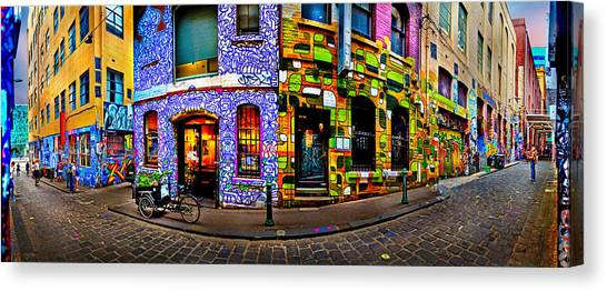 Degrees Canvas Print - Graffiti Lane   by Az Jackson