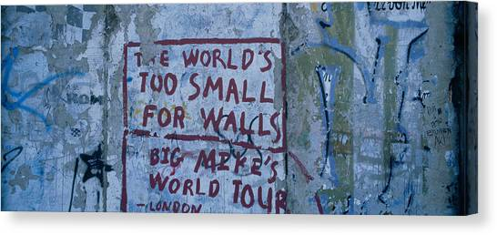 Berlin Wall Canvas Print - Graffiti On A Wall, Berlin Wall by Panoramic Images