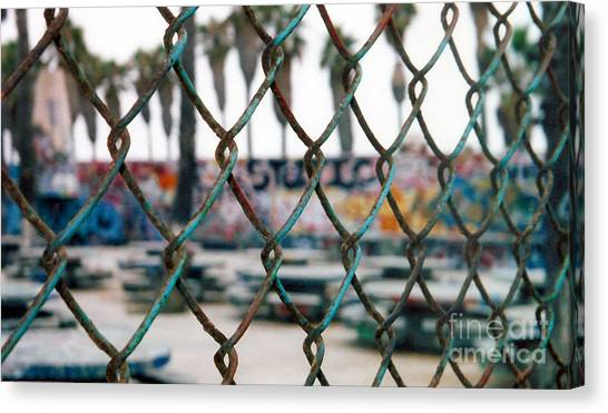Graffiti Out Of Bounds Canvas Print by Wylder Flett