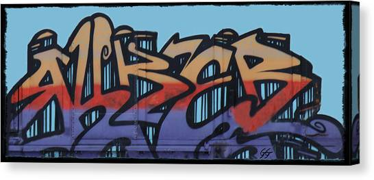 Dean Russo Canvas Print - Graffiti - Panel by Graffiti Girl