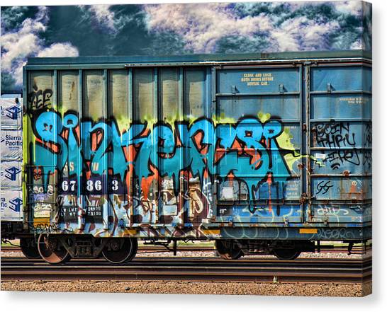 Dean Russo Canvas Print - Graffiti - Sinker by Graffiti Girl