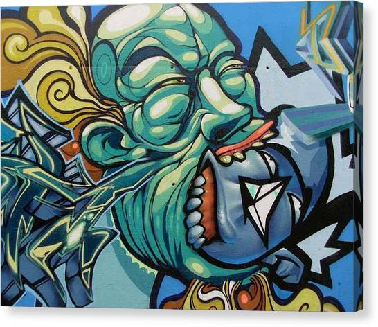 Hip Hop Canvas Print - Graffiti Street Art#barcelona by Arik Bennado
