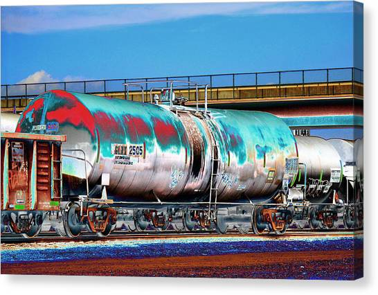 Dean Russo Canvas Print - Graffiti - Toxic Tanker II by Graffiti Girl