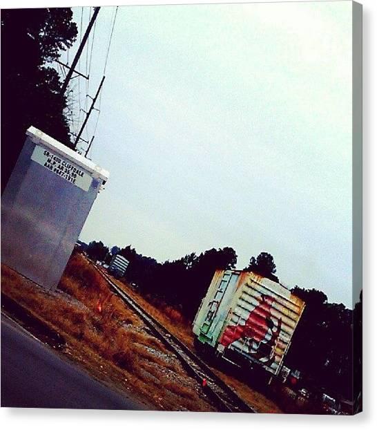 South Carolina Canvas Print - Graffiti Train Track by Ashley Woods