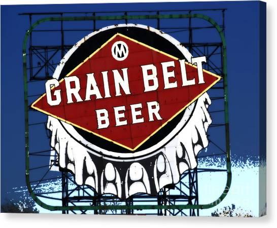 Grain Belt Blue Canvas Print