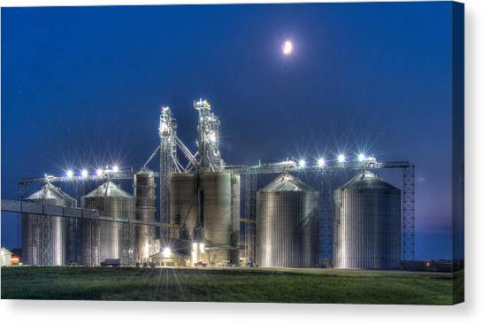 Grain Processing Plant Canvas Print