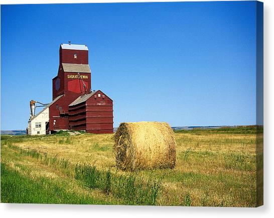 Grain Silo Saskatchewan Canvas Print by Buddy Mays