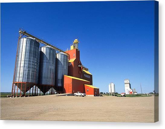 Grain Silos Saskatchewan Canvas Print by Buddy Mays