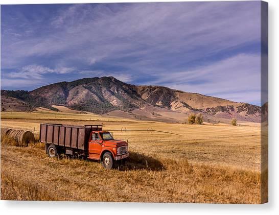 Grain Truck Canvas Print