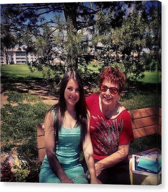 Grandma Canvas Print - Gramma Loving #mothersday #spring by Brittany Leffel