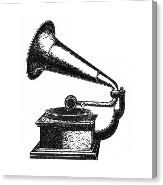 Gramophone Canvas Print by Christy Beckwith