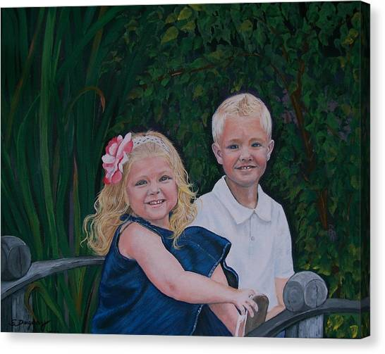 Grampa And Gramma's Joy  Canvas Print