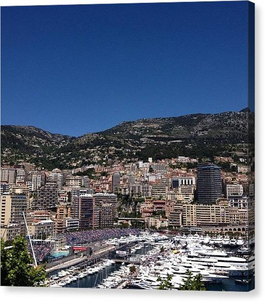 Race Cars Canvas Print - Gran Prix - Monaco by Will Moriarty
