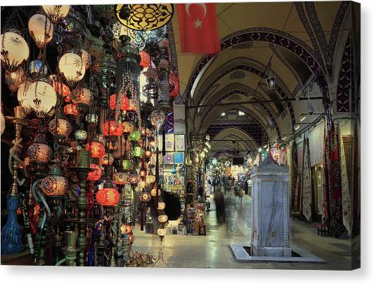 Grand Bazaar,  Istanbul, Turkey Canvas Print