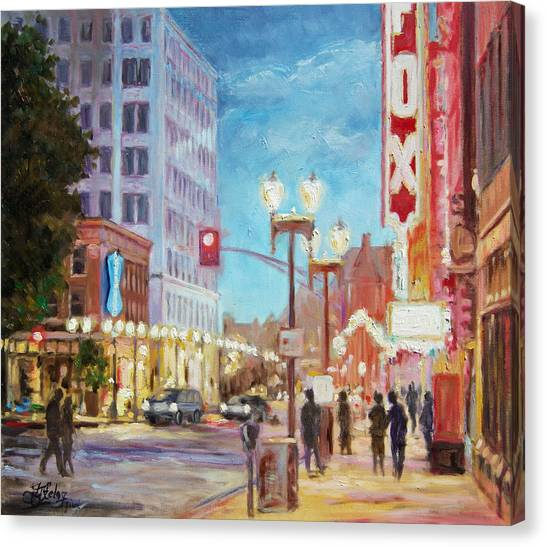 Grand Boulevard St.louis Canvas Print