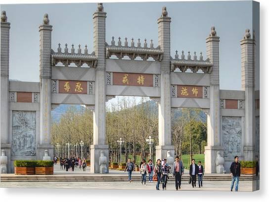 Grand Buddha Gates Canvas Print