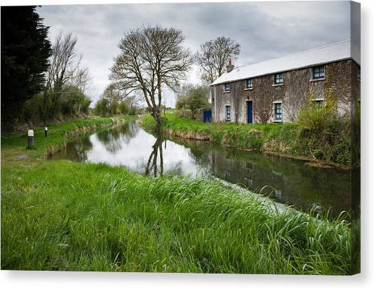 Grand Canal At Miltown Canvas Print