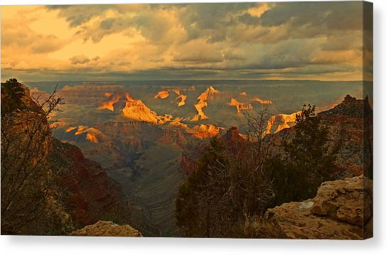 Grand Canyon Canvas Print - Grand Canyon At Dawn by Barry Inouye