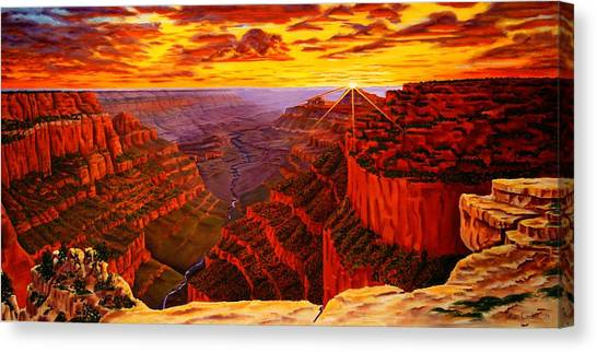 Grand Canyon At Sunset Canvas Print