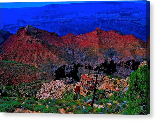 Grand Canyon Beauty Exposed Canvas Print