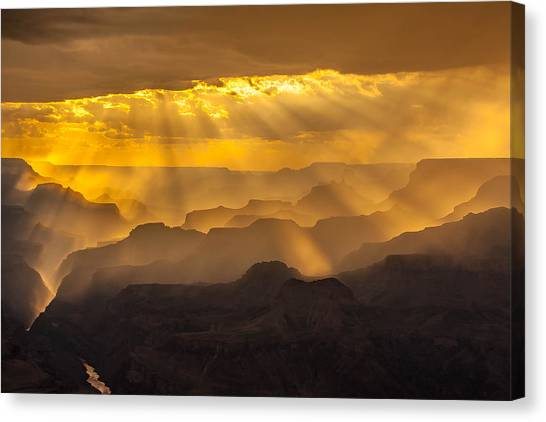 Grand Canyon Lightshow Canvas Print